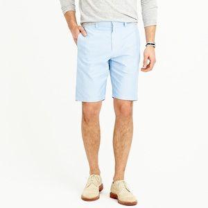 "J.Crew 10.5"". Club Shorts in Oxford Cloth Red 35"""
